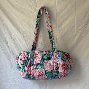 Grandmillennial quilted floral weekender bag